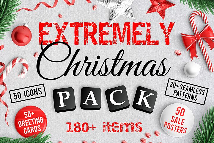 180 Extremely Christmas Pack