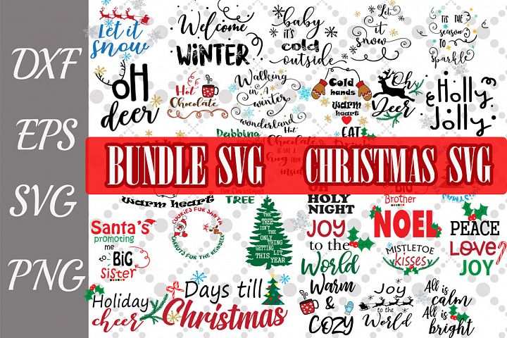 Christmas Bundle Svg, CHRISTMAS SVG, Winter Quotes