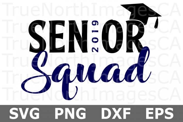 Senior Squad - A School SVG Cut File