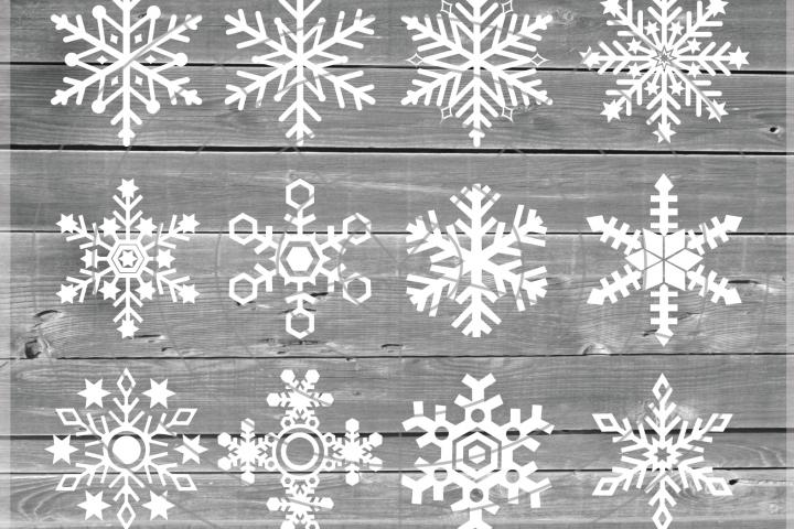 Snowflakes Svg -Snowflake SVG - Christmas SVG - Snow SVG
