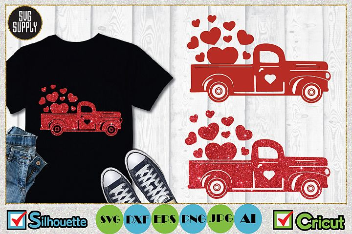 Valentine Truck SVG Cut File