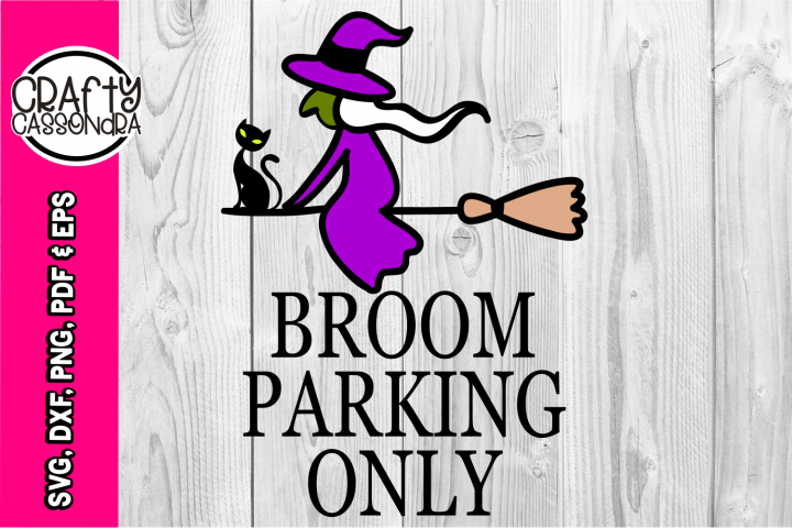 Halloween SVG - Broom parking only - Witch SVG - Cat svg