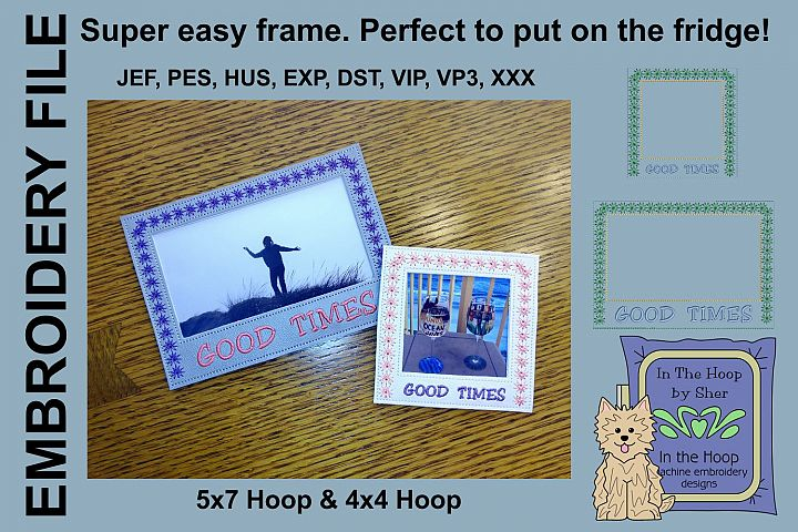 Good Times Picture Frames - 4 x 4 and 5 x 7 Hoops