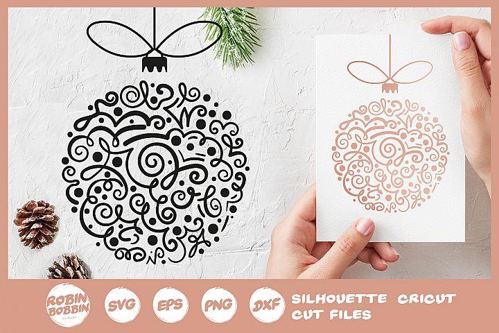 Christmas Toy SVG - Hand Drawn Christmas Tree Toy SVG