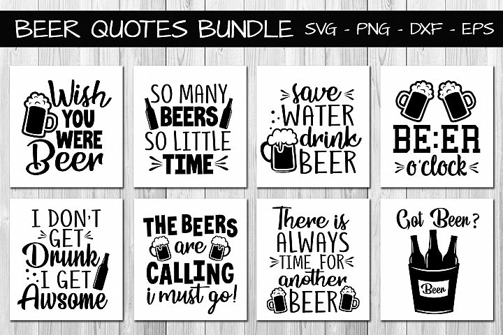 Beer Quotes Bundle Svg