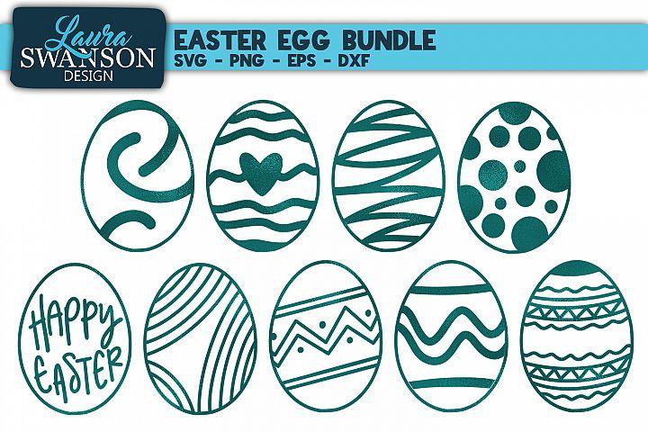 Easter Egg Bundle SVG, PNG, EPS, DXF