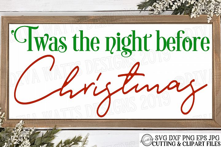 Twas The Night Before Christmas - Farmhouse Cutting File