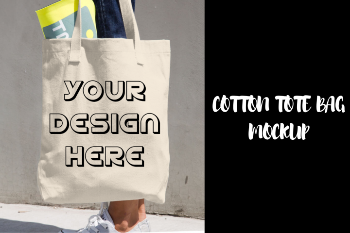 Cotton Tote Bag Mockup - Realistic