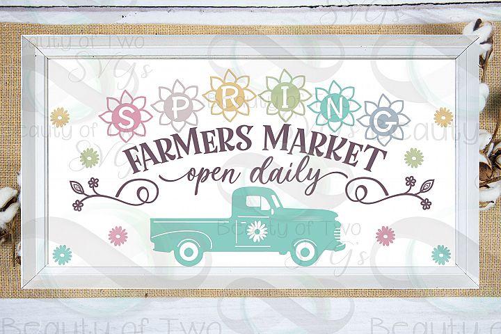 Spring Farmers Market svg, Spring Flowers svg, Spring svg