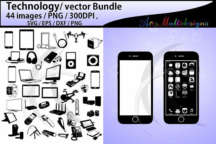 technology silhouette bundle / SVG, EPS vectors