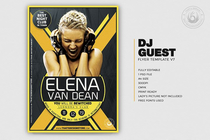 DJ Guest Flyer Template V7