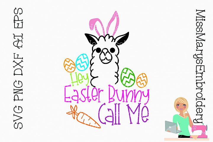 Easter Llama SVG Cutting File PNG DXF AI EPS