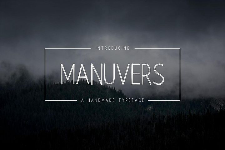 Manuvers - Handmade Sans Font -