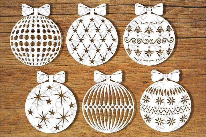 Baubles, Decorative Christmas Balls SVG files.
