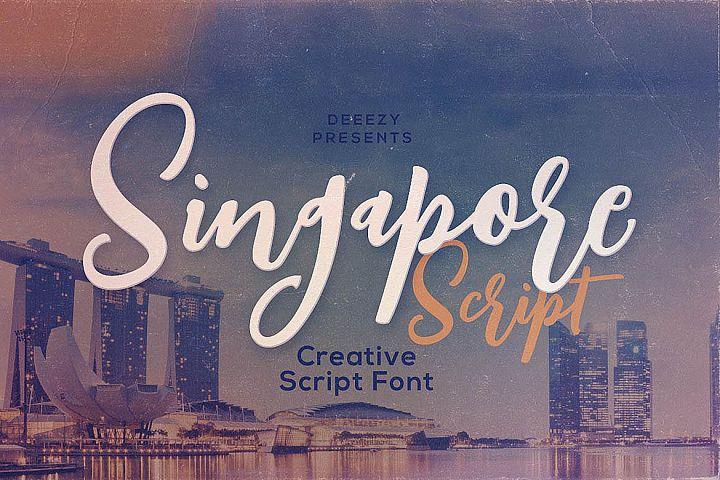 Singapore Script Font