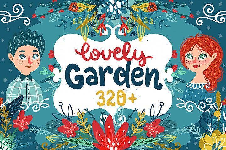 Lovely Garden - Hand-drawn Clipart