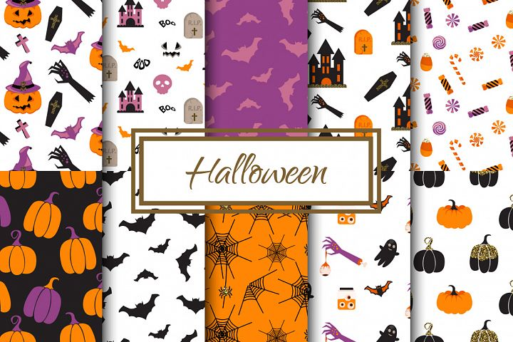 Happy Halloween Seamless Patterns
