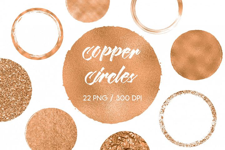 Copper Circles Clip Art example image 1