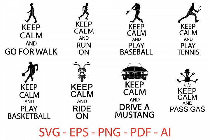 Keep Calm svg files
