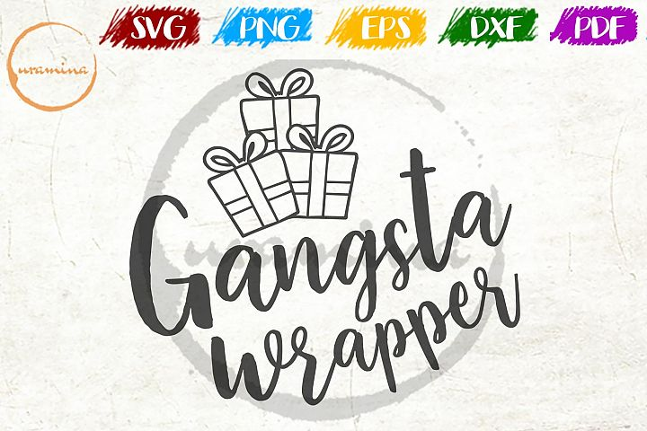 Gangsta Wrapper Christmas SVG PDF PNG
