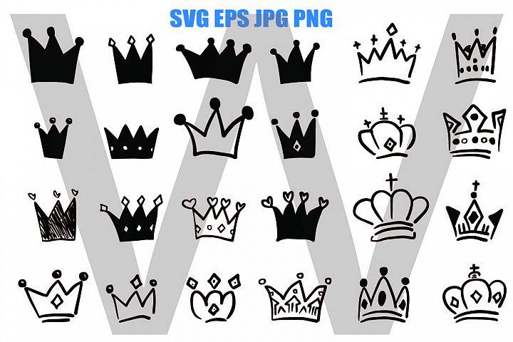 Crown Hand Drawing - SVG EPS JPG PNG