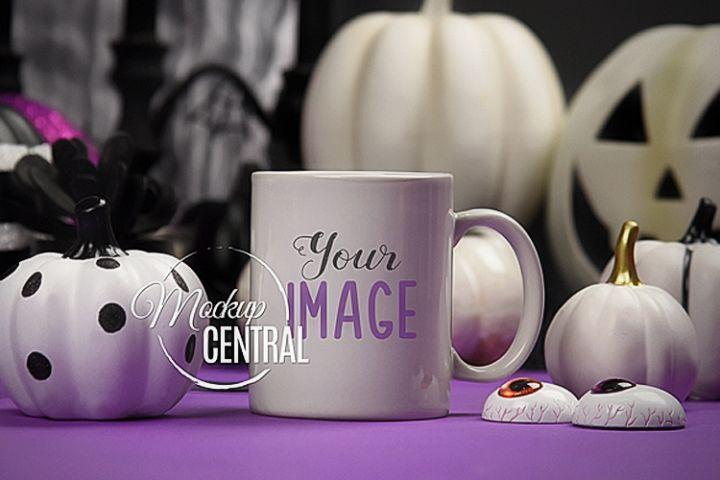 Halloween Coffee Mug Class Cup Mockup JPG