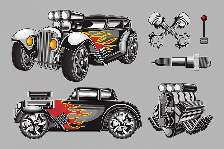 Hot Rod Vector Pack