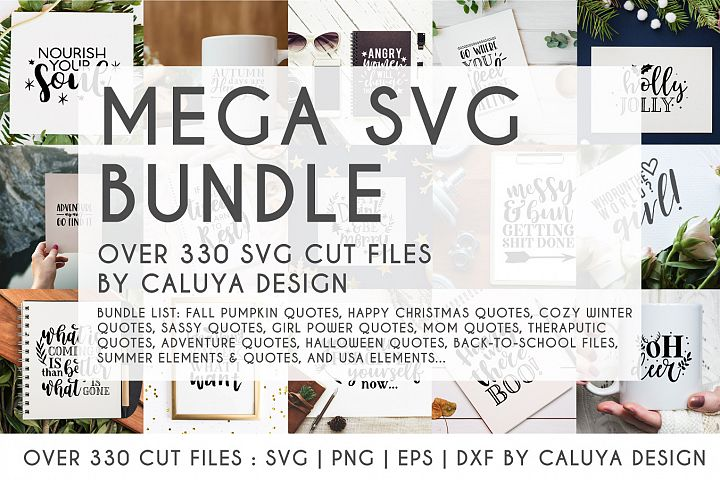 MEGA SVG CUT FILE BUNDLE | OVER 330 CUT FILES