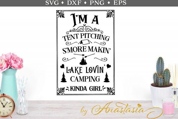 Im a camping kinda girl SVG cut file