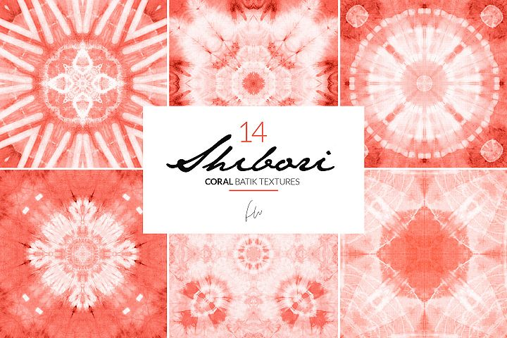 Shibori - Coral Batik Textures
