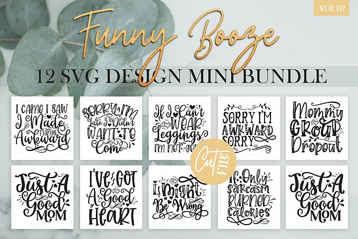 Funny Booze SVG Bundle Vol 2