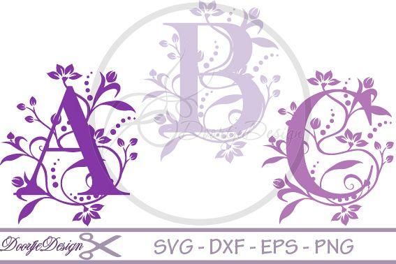 Florisch Monogram Letters SVG