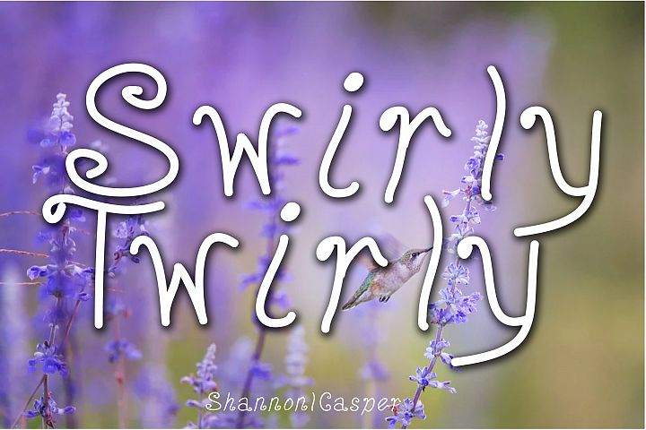 Swirly Twirly Fun Font