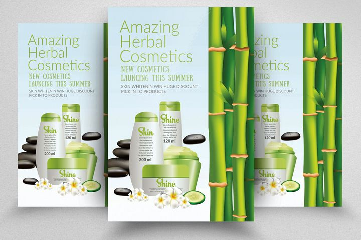 Cosmetics Herbal Beauty Product Flyer Template