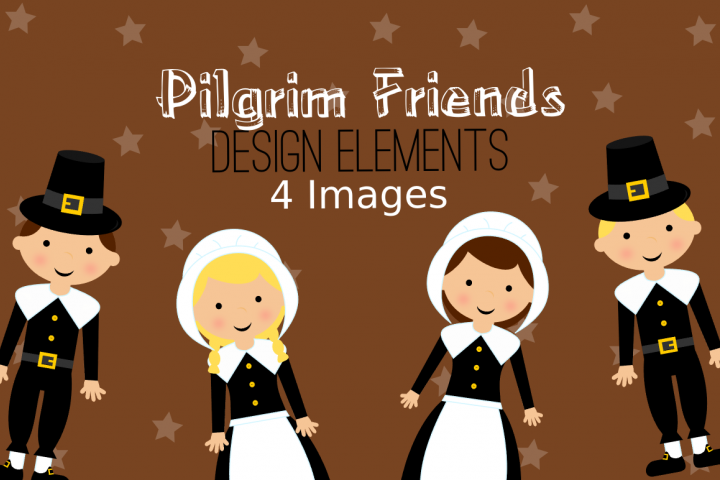 Thanksgiving Pilgrim Graphics, Illustrations, Clipart