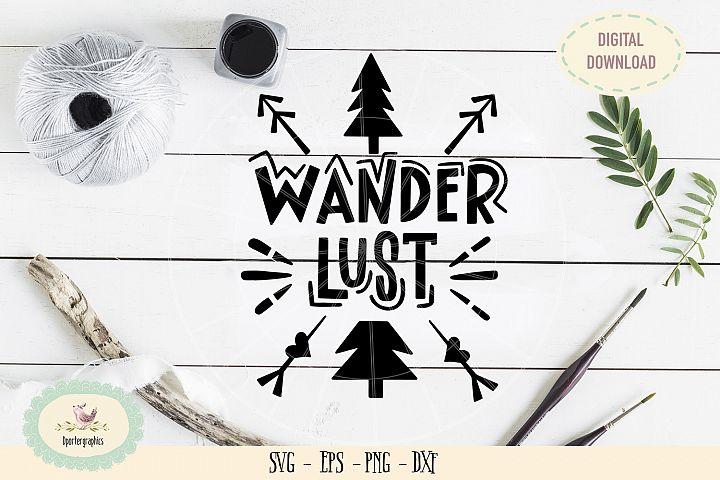 Wander lust SVG PNG