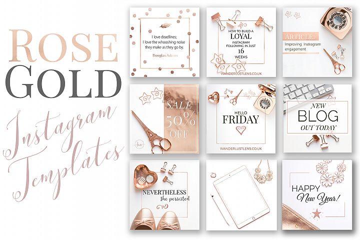 Rose Gold Instagram Templates