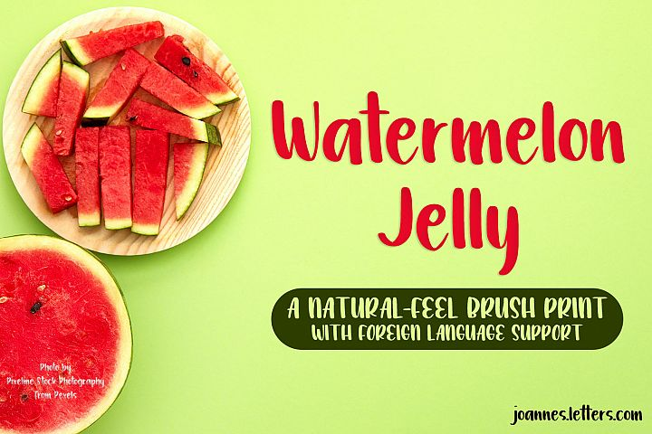 Watermelon Jelly Brush Print Typeface