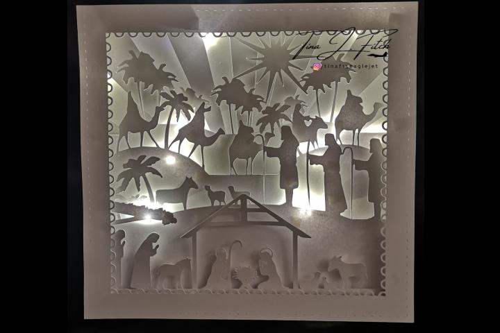 Nativity Luminaire Card TF0273, SVG
