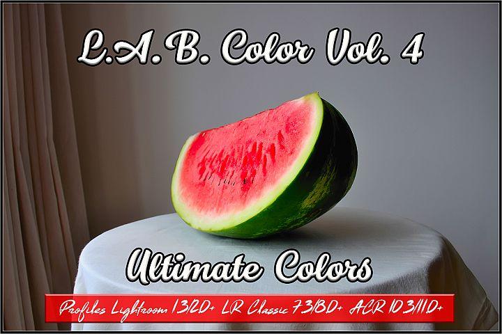 LAB Color Vol. 4 - Ultimate Colors profiles Lightroom ACR