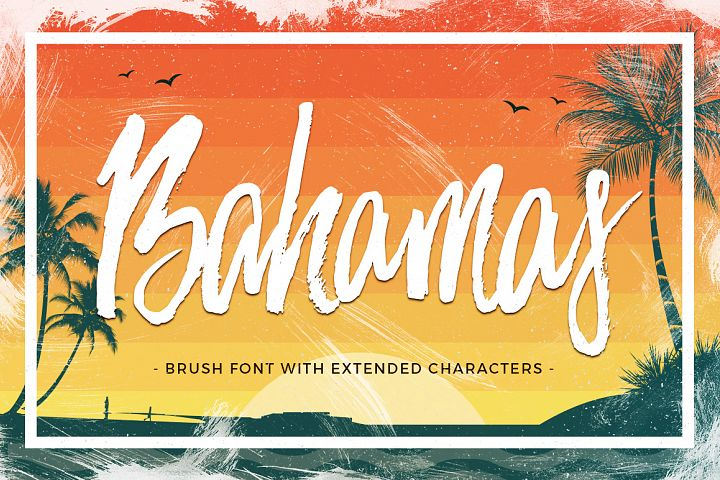 Bahamas Brush Font - Free Font of The Week Font