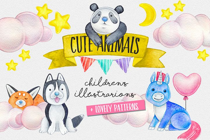 CUTE ANIMALS collection BABY SHOWER example 1