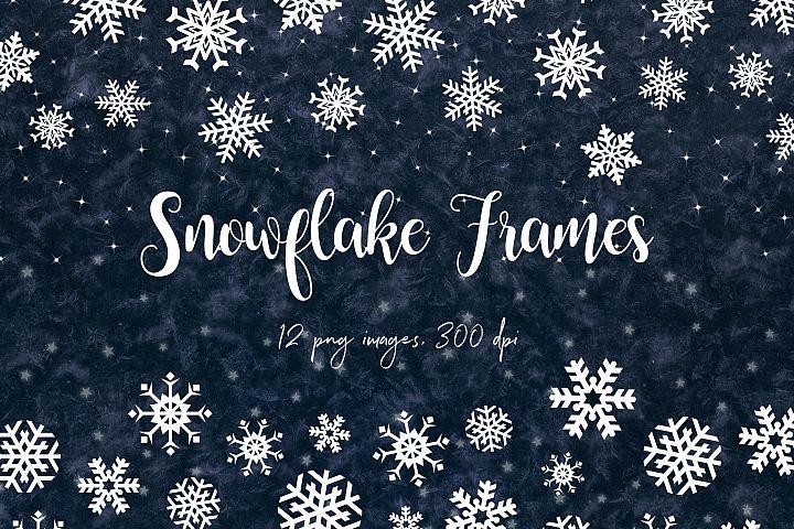 Snow Digital Borders, Winter Frames