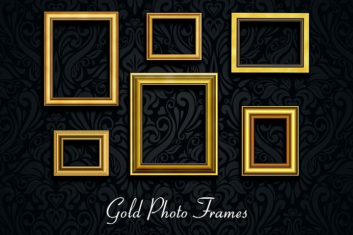 Retro Gold Photo Frames