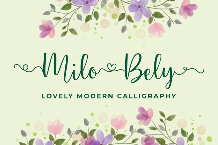 Milo Bely - Lovely Modern Calligraphy