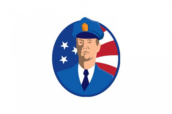 american police officer policeman flag