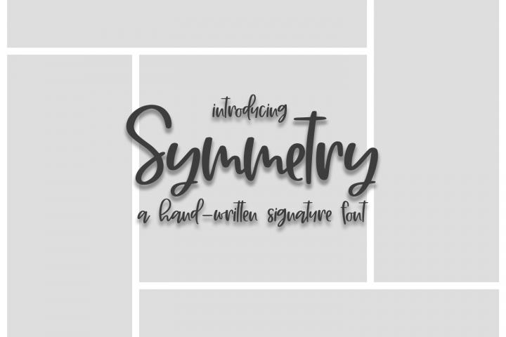 Symmetry - A Hand-Written Signature Font