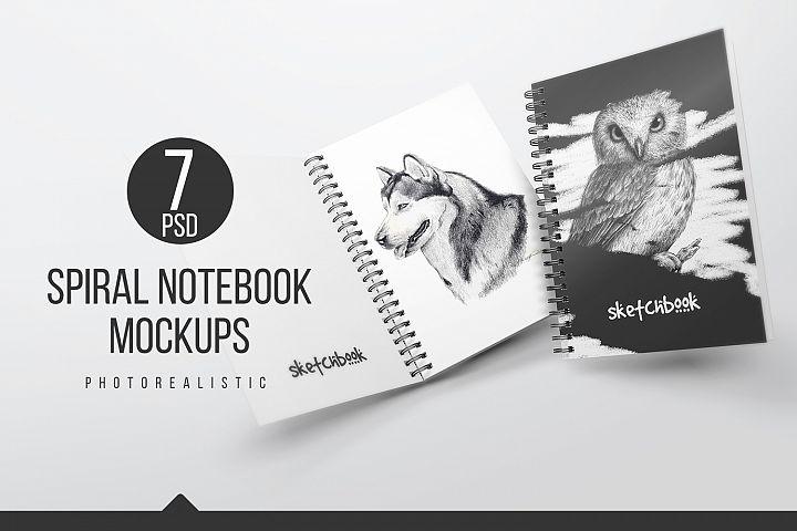 A5 Spiral Notebook Mockups