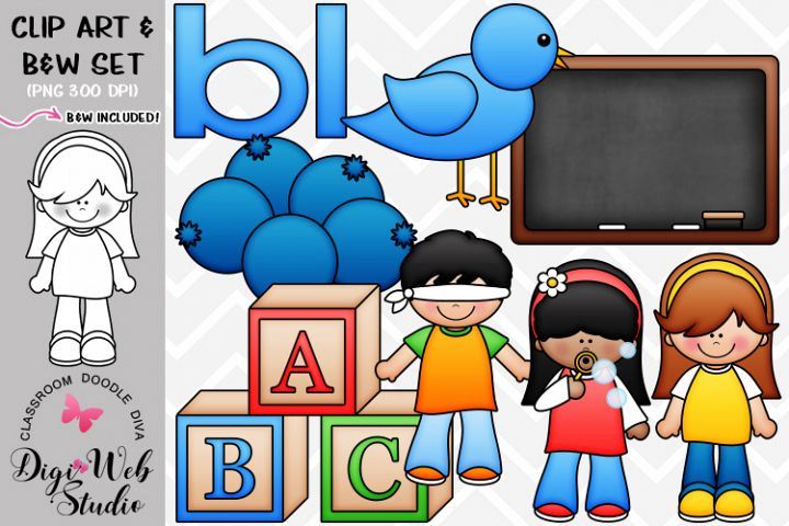 Clip Art / Illustrations - L Blends - bl Phonics