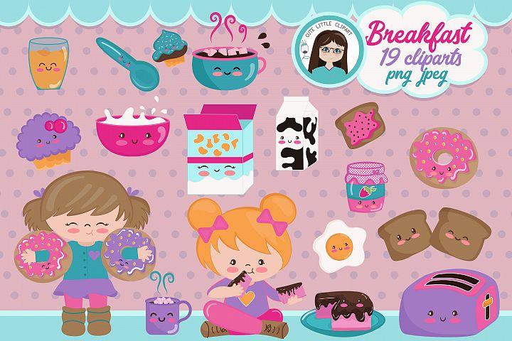 Breakfast Time kawaii clipart